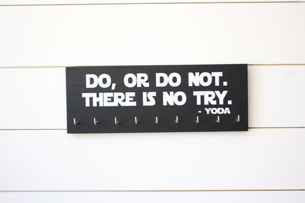 Star Wars Running Medal Holder - Do, Or Do Not. There is No Try. Yoda - Medium - York Sign Shop - 2