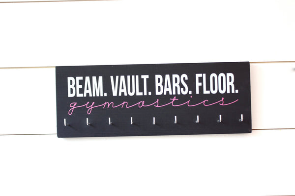 Gymnast Medal Holder / Display - Beam Vault Bar Floor Gymnastics - Medium - York Sign Shop - 3