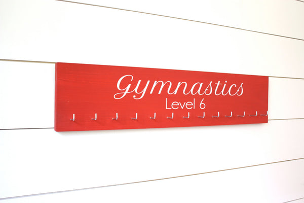 Gymnastics Medal Holder with Level - Gymnasts - Large - York Sign Shop - 1