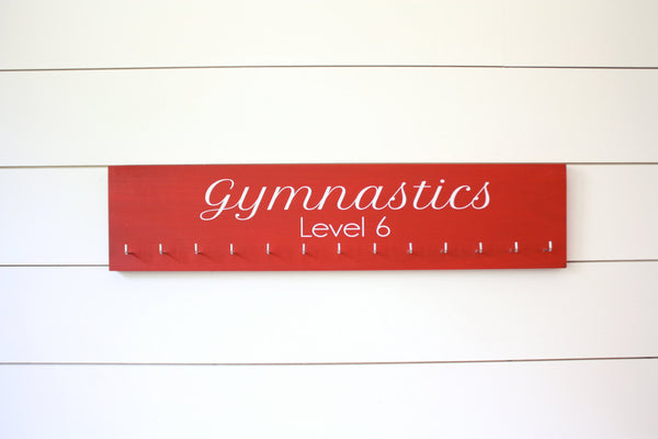 Gymnastics Medal Holder with Level - Gymnasts - Large - York Sign Shop - 2