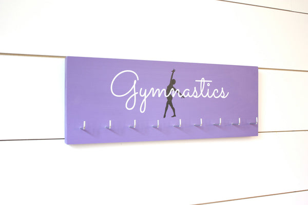 Gymnast Medal Holder / Display - Gymnastics Silhouette - Medium - York Sign Shop - 3