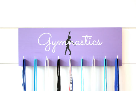 Gymnast Medal Holder / Display - Gymnastics Silhouette - Medium - York Sign Shop - 1