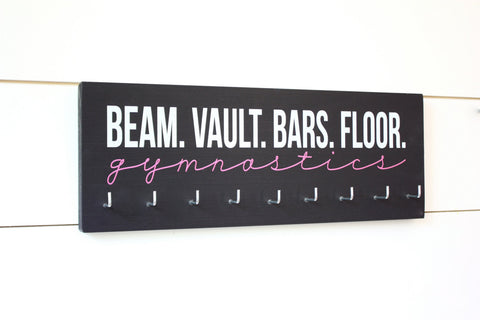 Gymnast Medal Holder / Display - Beam Vault Bar Floor Gymnastics - Medium - York Sign Shop - 1