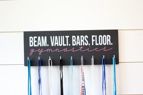Gymnast Medal Holder / Display - Beam Vault Bar Floor Gymnastics - Medium - York Sign Shop - 2