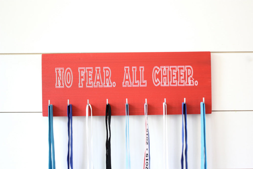 Cheerleader Medal & Bow Holder - Cheerleading - Cheer - Medium - York Sign Shop - 1