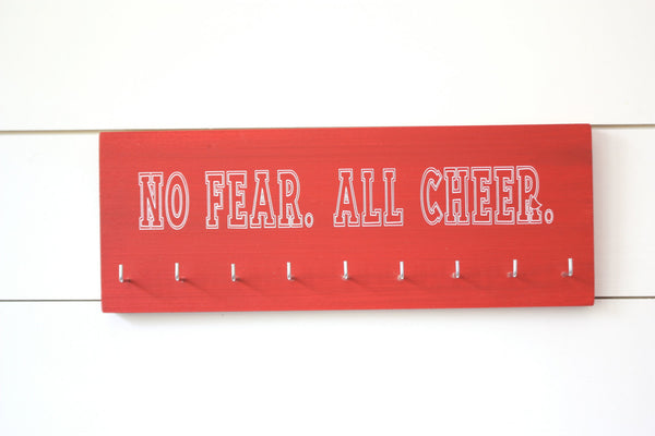 Cheerleader Medal & Bow Holder - Cheerleading - Cheer - Medium - York Sign Shop - 3