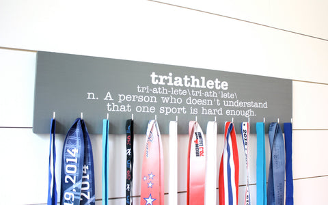 Triathlon Medal Holder - Definition of Triathlete - Large - York Sign Shop - 1
