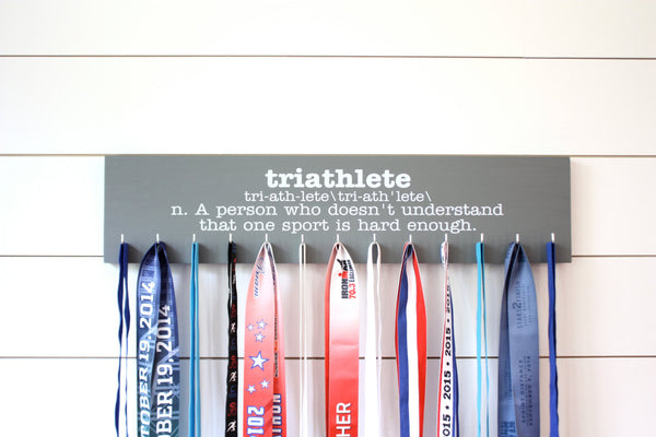 Triathlon Medal Holder - Definition of Triathlete - Large - York Sign Shop - 3