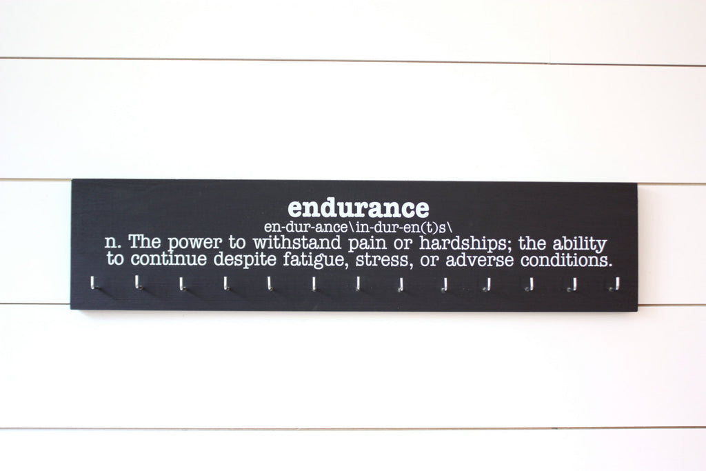 Medal Holder - Endurance Definition - Ultra Runner - Ironman - Large - York Sign Shop - 1