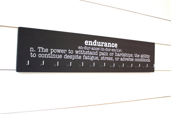 Medal Holder - Endurance Definition - Ultra Runner - Ironman - Large - York Sign Shop - 2