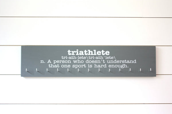 Triathlon Medal Holder - Definition of Triathlete - Large - York Sign Shop - 2
