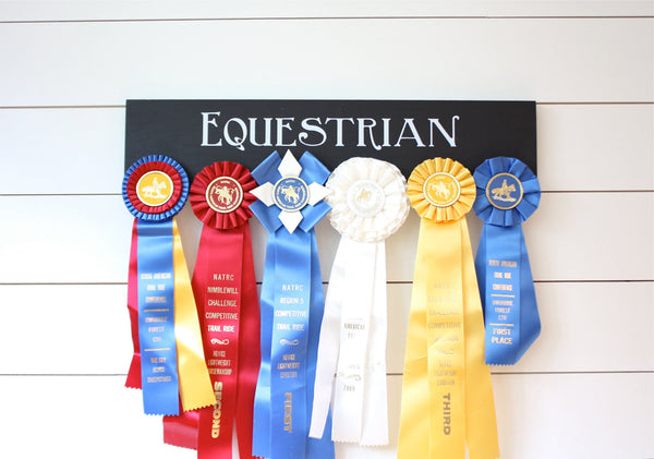Equestrian Ribbon Holder - Horseback Riding - Horse Show - York Sign Shop - 3