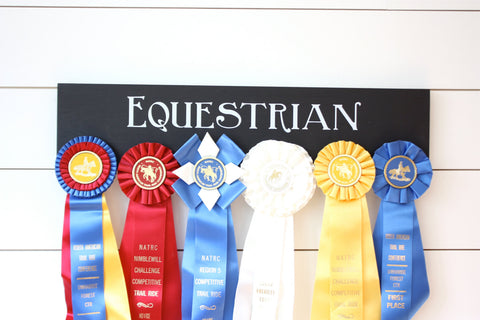 Equestrian Ribbon Holder - Horseback Riding - Horse Show - York Sign Shop - 1