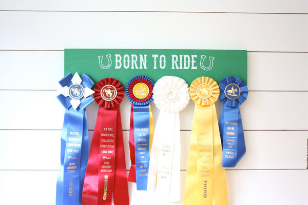 Equestrian Ribbon Holder - Born to Ride - Horseback Riding - Horse Show - York Sign Shop - 2