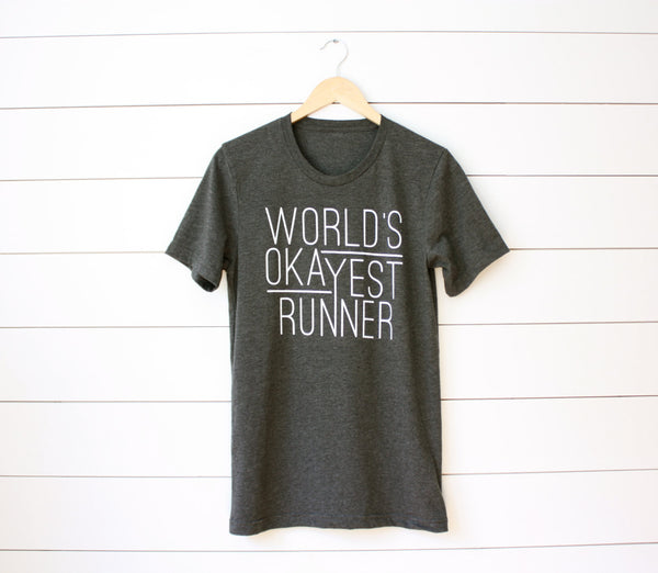 T-shirt for Runners - World's Okayest Runner - Running Tee - York Sign Shop - 5