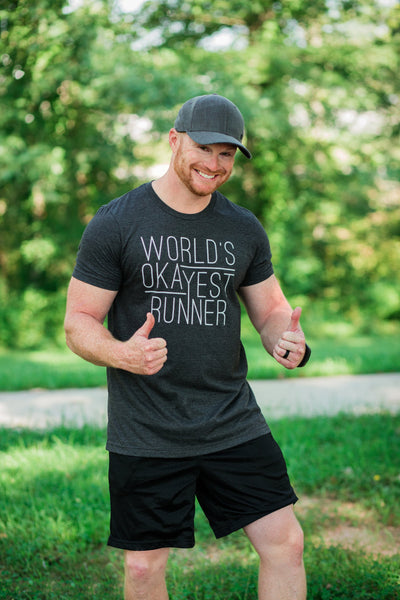 T-shirt for Runners - World's Okayest Runner - Running Tee - York Sign Shop - 4