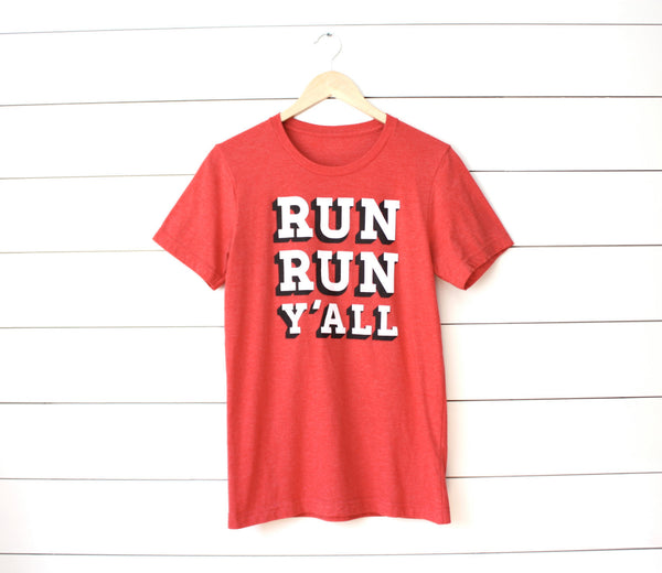 Runner T-shirt - Run Run Y'all - Running - Southern - Tee - York Sign Shop - 5