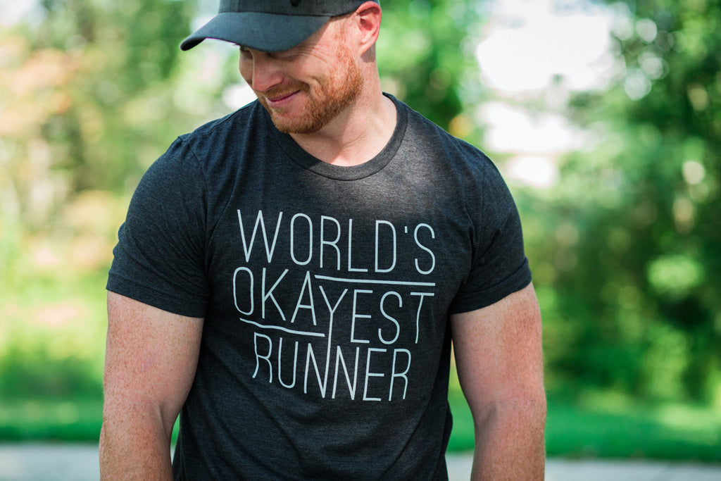 T-shirt for Runners - World's Okayest Runner - Running Tee - York Sign Shop - 1