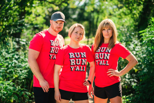 Runner T-shirt - Run Run Y'all - Running - Southern - Tee - York Sign Shop - 3