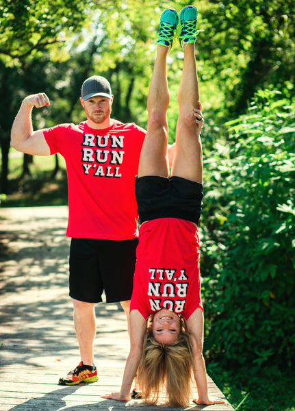 Runner T-shirt - Run Run Y'all - Running - Southern - Tee - York Sign Shop - 2