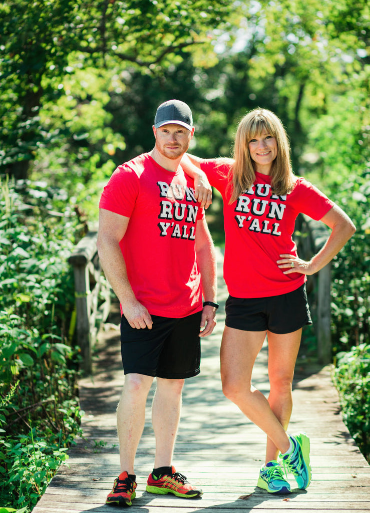 Runner T-shirt - Run Run Y'all - Running - Southern - Tee - York Sign Shop - 1