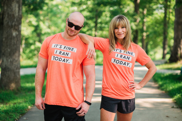 Running T-Shirt - It's Fine. I ran today. - Runner Tshirt - York Sign Shop - 2