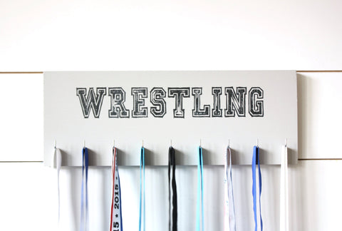 Wrestling Medal Holder - Medium - York Sign Shop