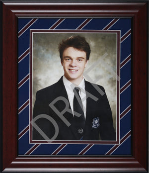 "Upper School House Tie Frame 8"" x 10"" - Wall Mounted"