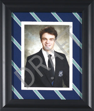 "Upper School House Tie Frame 11"" x 14"" Portrait Orientation"