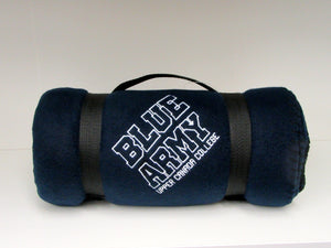 Navy Blue Army Fleece Blanket