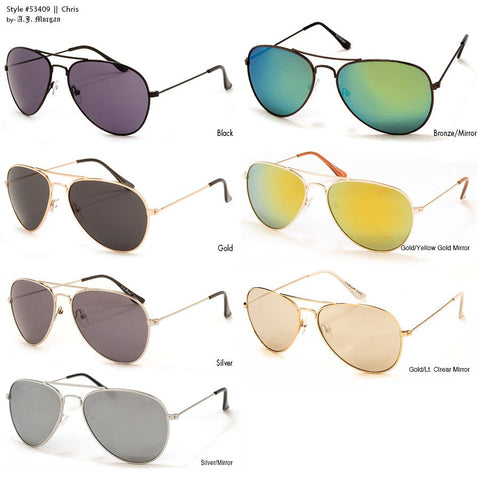 CHRIS MEN'S & WOMEN'S AVIATOR SUNGLASSES