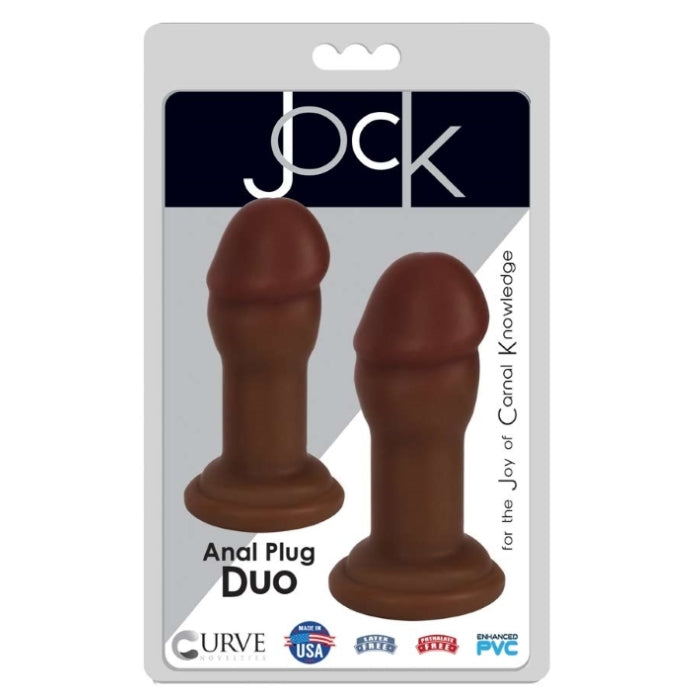 ANAL PLUG DUO - CHOCOLATE