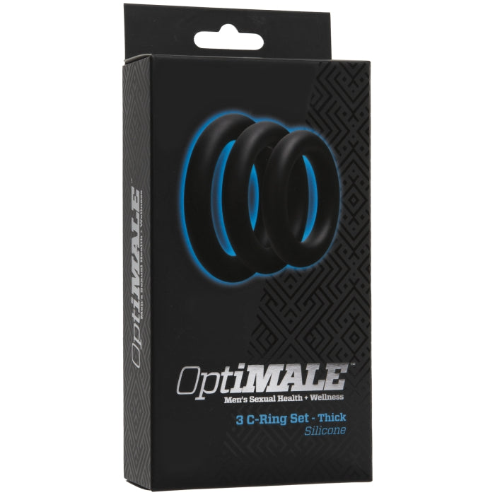 OPTIMALE - 3 C-RING SET THICK SILICONE - BLACK