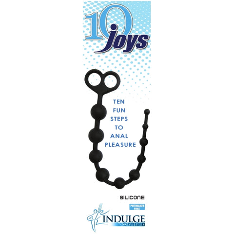 10 JOYS ANAL BEADS - BLACK