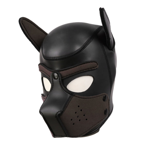 PUPPY HOOD SPANDEX - NEOPRENE BLACK - BROWN LRG