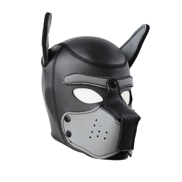 PUPPY HOOD SPANDEX - NEOPRENE BLACK - GREY - MED