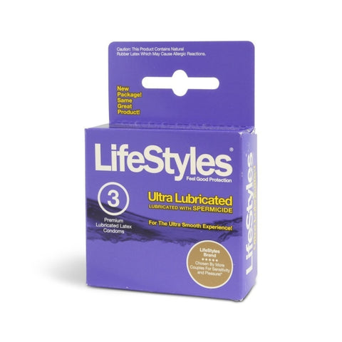 LIFESTYLES 3'S ULTRA LUBE (PURPLE) W/SPL