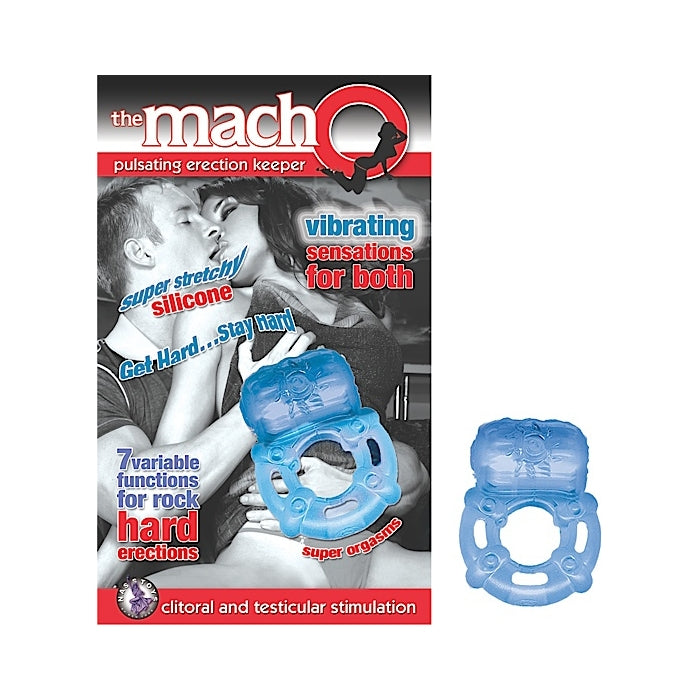 THE MACHO PULSATING ERECTION KEEPER-BLUE