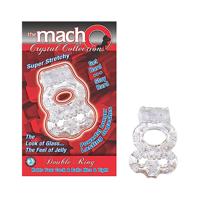 THE MACHO CRYSTAL COLLECTION DOUBLE RING - CLEAR