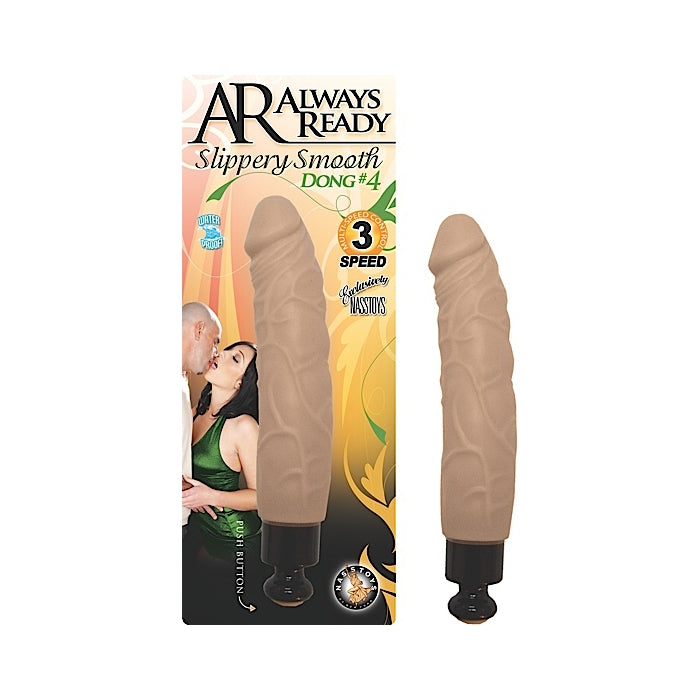 AR ALWAYS READY SLIPPERY SMOOTH DONGS DONG #4 - FLESH