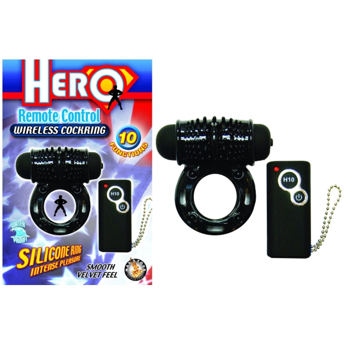 HERO REMOTE CONTROL WIRELESS COCKRING - BLACK