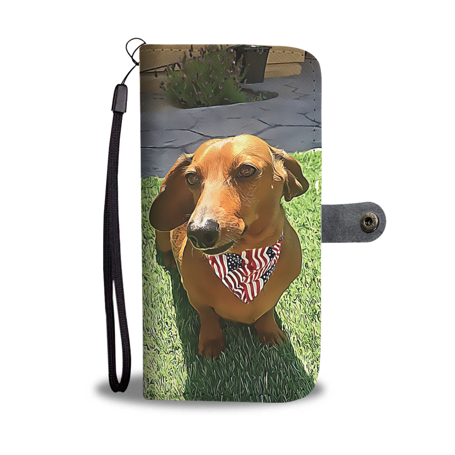PERSONALIZED Dachshund Wallet Phone Case