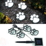 Paw Print Solar Lights for Outdoor Gardens