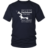 How to Stop a Dachshund from Barking T-Shirt