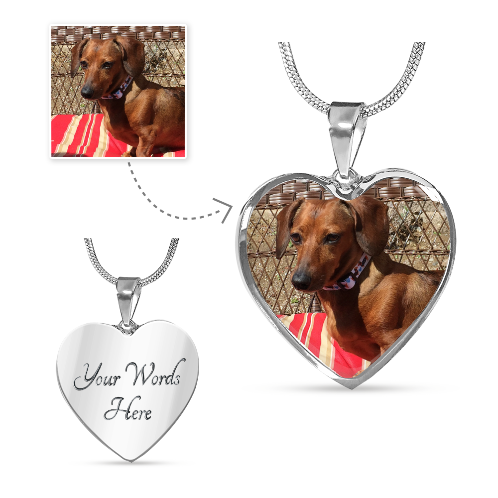 Personalized Loving Memory Pet Memorial Necklace / Bracelet <b>(With Your Pet's Photo)</b>