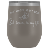 No Longer at my Side Furever in my Heart Memorial Wine Tumbler
