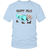 "Dachshund T-Shirt ""Happy Pills"""