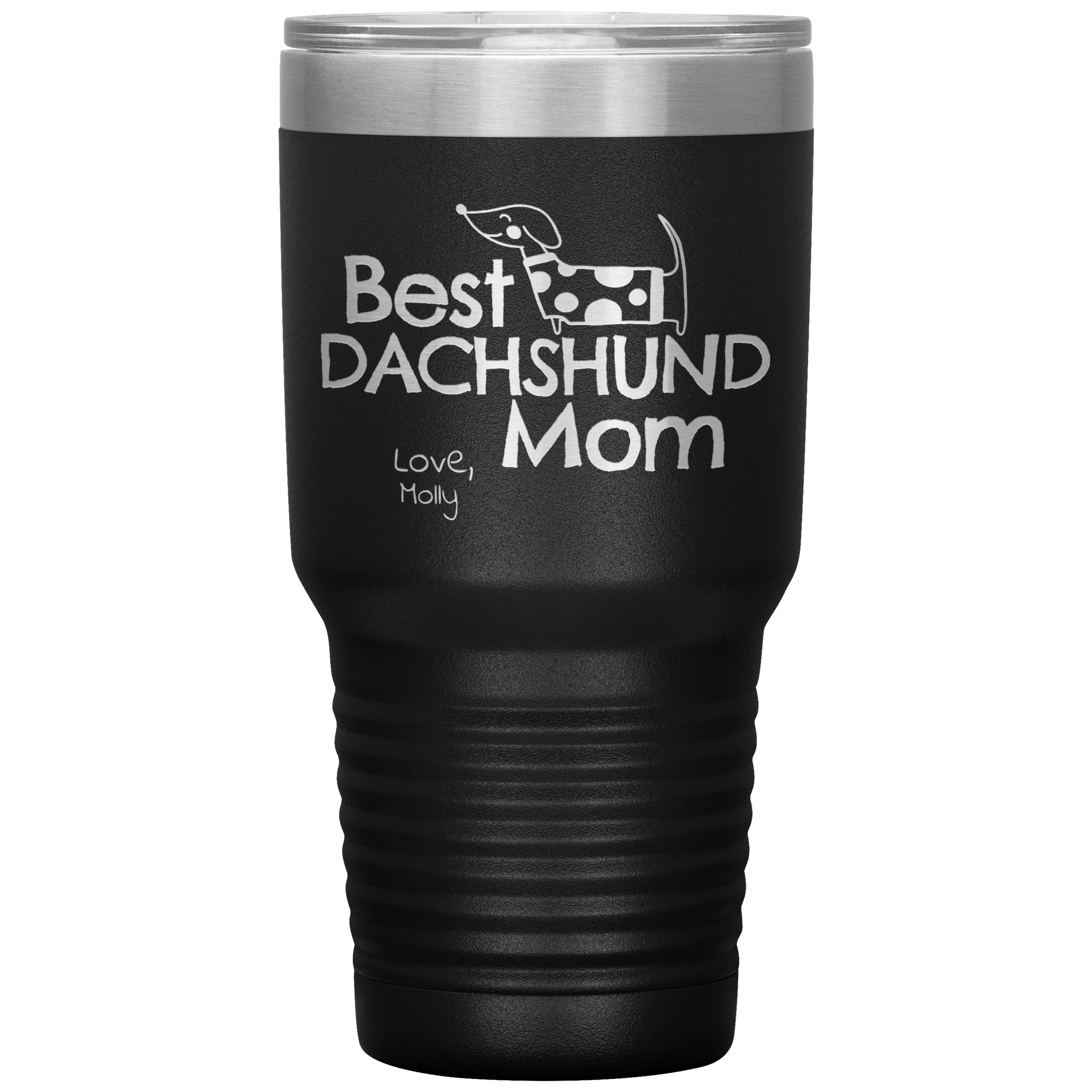 Best Dachshund Mom PERSONALIZED 30oz Drink Tumbler
