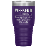 Petting Dogs & Chocolate 30oz Drink Tumbler
