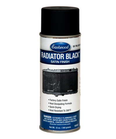 Radiator black paint brilhante
